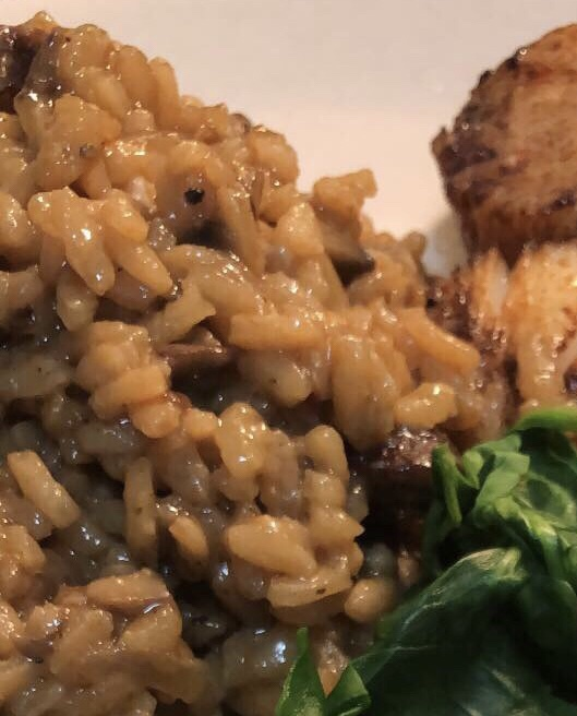 Mushroom and andouille sausage risotto…
